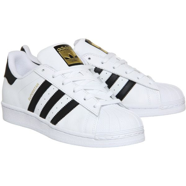 Adidas Superstar Gs ($74) ? liked on Polyvore featuring shoes, adidas,  striped