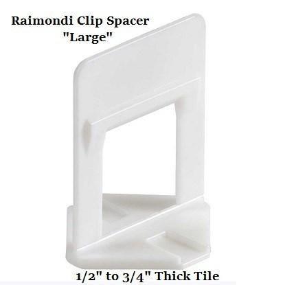 "Tile Tools - Raimondi Large Tile Leveling Clip 1/16"" Spacer (Bag 200)"