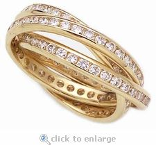 "What a beautiful wedding/engagement ""eternity"" ring. Perfect symbolism... a chord of 3 which cannot be broken.."