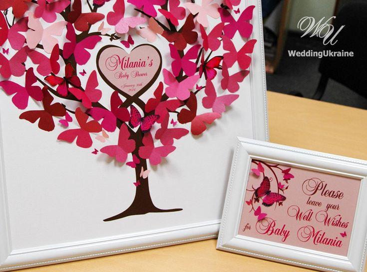 Baby doccia albero del libro degli ospiti con 3D di WeddingUkraine