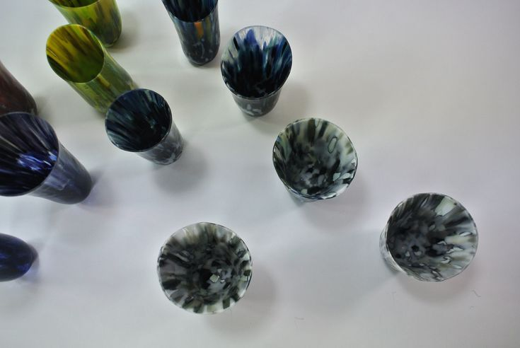 Andrew Taylor Ebb in Time 758 Pebbles vessels 7 dia x 9 h 2