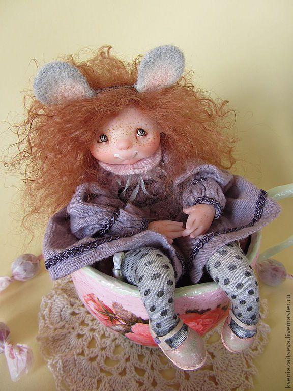 Купить Молочный Сахарок - васильковый, коллекционная кукла, авторская кукла, куклы ксении зайцевой, малышка
