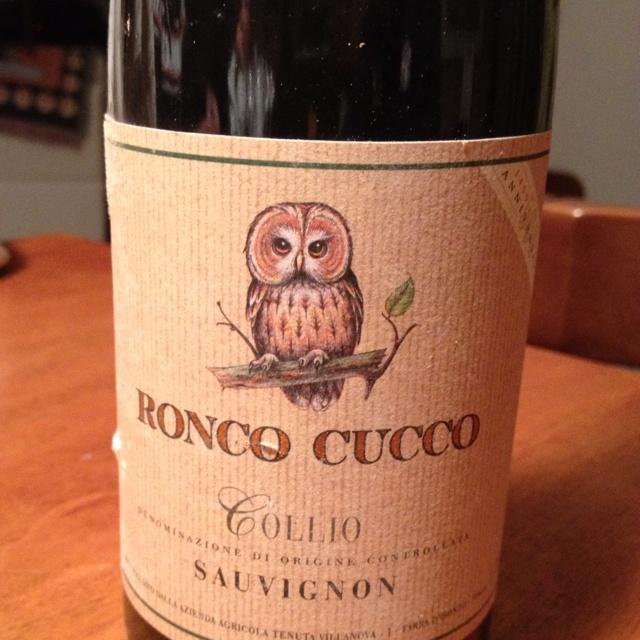 Ronco Cucco sauvignon 2002  Still alive   from Tenuta Villanova , a Friuli winery born in 1499