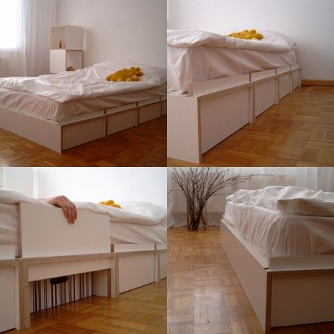 Bed with hidden storage