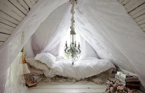 Little white house bedroom