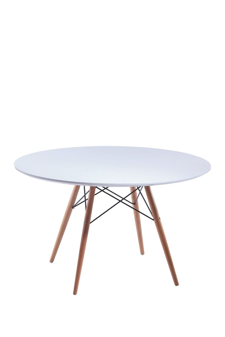 """Daphney White 47"""" Round Dining Table"""