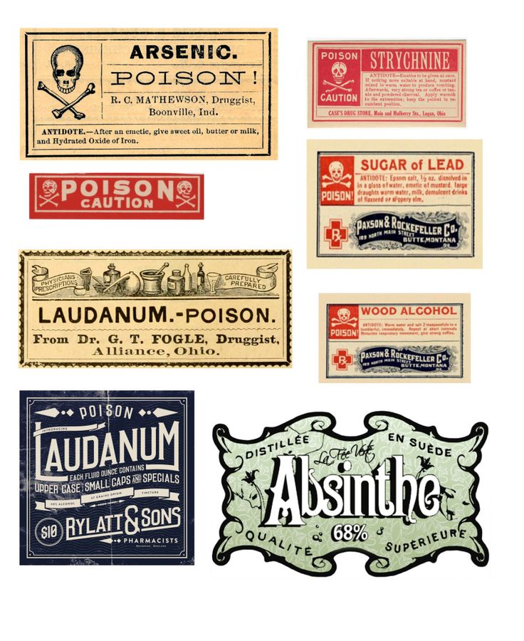 Vintage poisons halloween bottles free printables halloween bottle labelsprintable