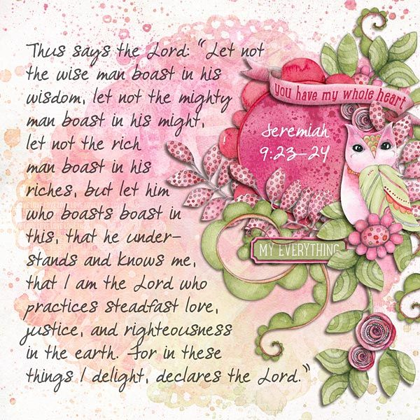 Jeremiah 9:23-24  kit: Love is in the Air by Createwings Designs