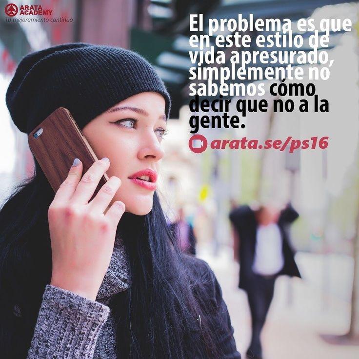 http://arata.se/ps16  El problema es que en este estilo de vida apresurado simplemente no sabemos cómo decir que no a la gente.  __________________________________________________________________________ #ArataAcademy #ArataAcademySPANISH #Autodesarrollo #edtech #elearning #instadaily #Maestría #PhotoOfTheDay #PicOfTheDay #Productividad #SeiitiArata #DiNo #vida #Consejos