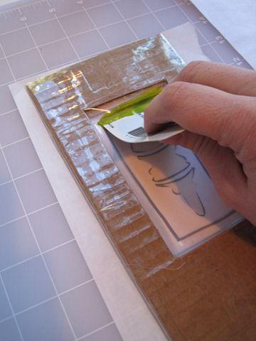 "mini silkscreen tutorial from ""Cloth Paper Scissors"" magazine"