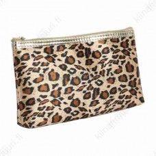Leopardi kuvioinen meikkilaukku