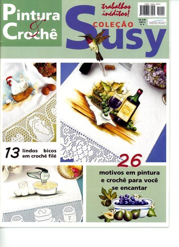 Pintura e croche Susy n 4 ano 2 - Rosana Carvalho - Picasa Web Albums...FREE MAGAZINE!