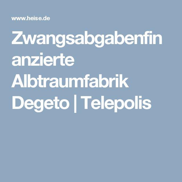 Zwangsabgabenfinanzierte Albtraumfabrik Degeto | Telepolis