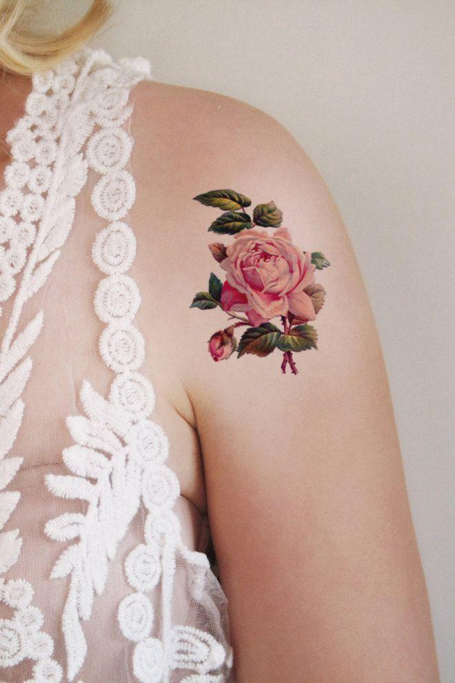 tatouage acceptes tu cette rose tatouages de roses de rose et epaule. Black Bedroom Furniture Sets. Home Design Ideas