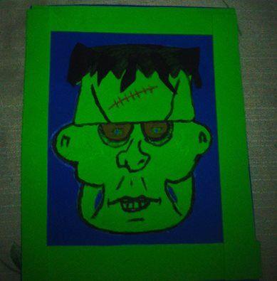 Cuadro goma eva Frankenstein
