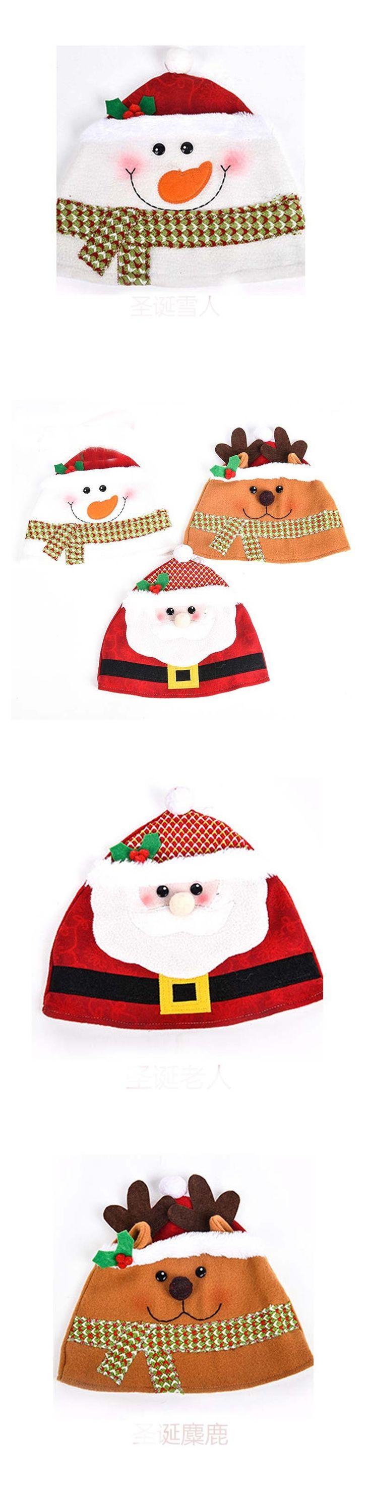 Christmas Day Snowman Hat Beanies For Adult Women Men Santa Claus Winter Warm Ear Cap Skullies