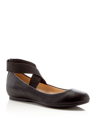 Jessica Simpson Mandays Ballet Flats - Compare at $69 | Manmade upper, manmade lining, cork/rubber sole | Imported | Round toe, criss-cross elasticized ankle strap, cushioned footbed | Available in fu