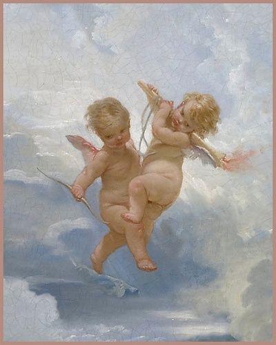 François Boucher 'The Triumph of Venus' (detail modified) 1740