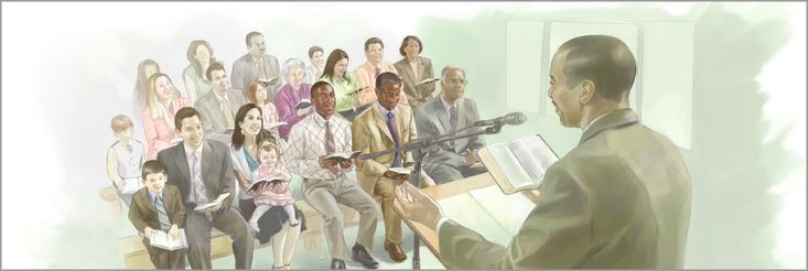 A congregation meeting in progress