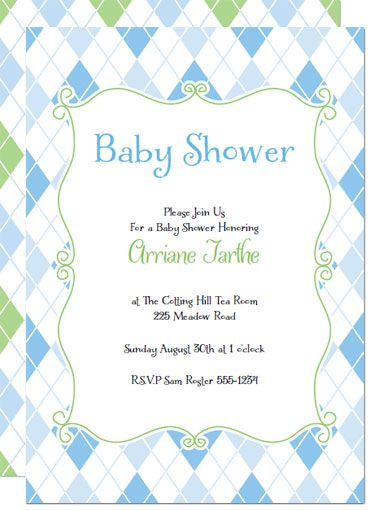 136 best diy baby shower invitations images on pinterest diy baby printable baby shower invitations blue argyle invites solutioingenieria Gallery