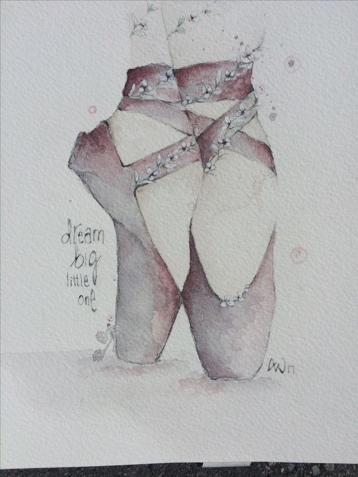 Watercolor made by Anja Waage