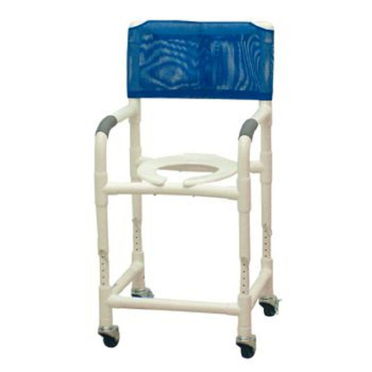 Patterson Medical Adjustable Height Rolling Shower Chair