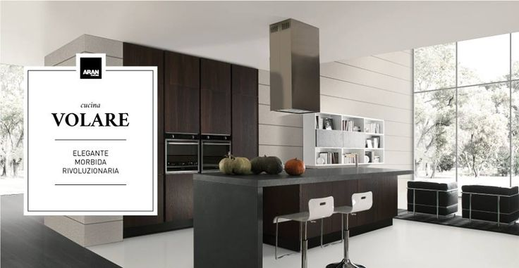 Elegance meets practicality in Volare's unique style. Elegant design and sinuosity of the shapes are suited to versatility, solidity and functionality in the continuum from the kitchen to the living area. Lacquer, wood and yellow pine for the most luminous spaces, and glass for the most daring ones.