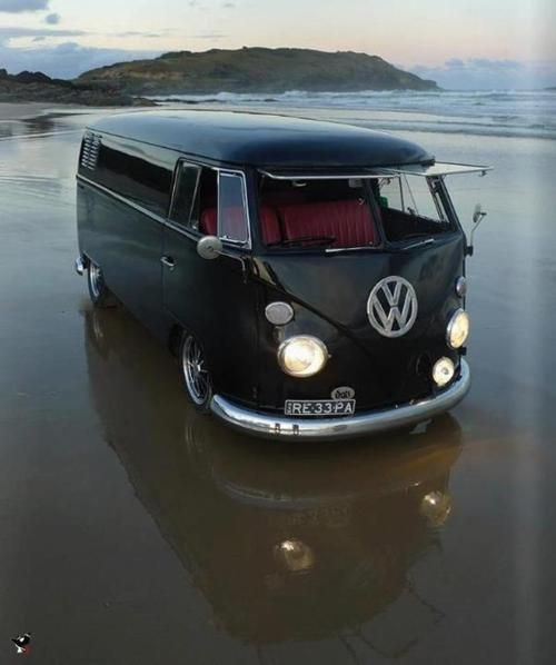 So Cool....Buses, Sports Cars, Dreams, Vw Bus, Roads Trips, Volkswagen Bus, Vwbus, Vw Vans, Black