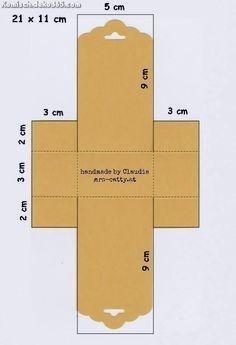 Tolle Vorlage zu Gunsten von eine Pappschachtel mit Stampin Up! tag top punch … Betriebsanl…
