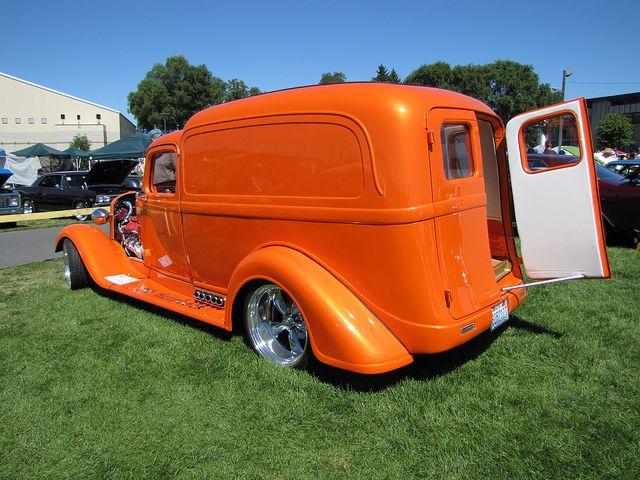1936 Dodge Panel Truck:Tangelo Pearl Orange; Like a Dream`Sickle