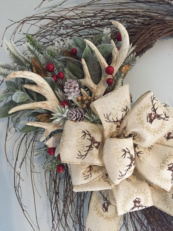 Items similar to Deer Antler Wreath on Etsy
