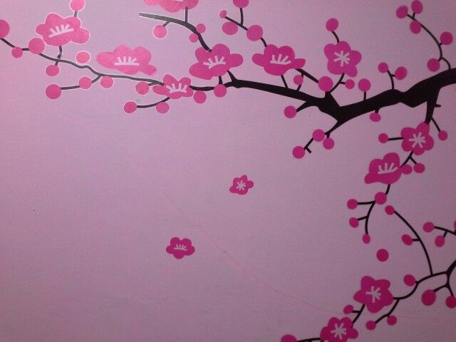 cerry blossoms in my room