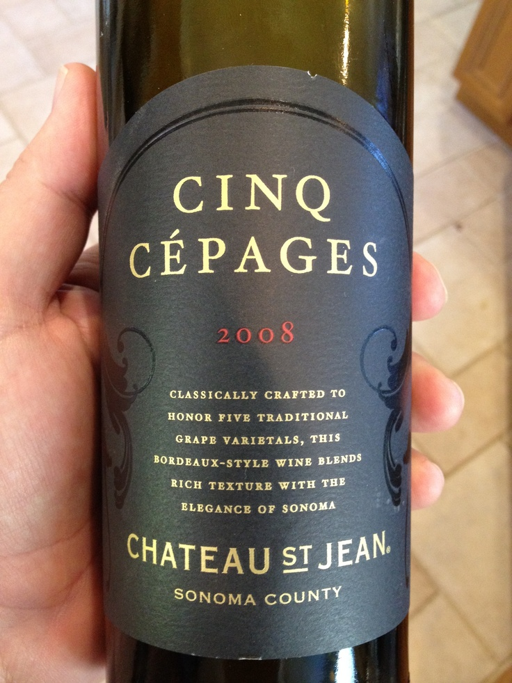 Shared this classically balanced Bordeaux style blend with Chris and Maggie at a family BBQ. The 2008 Cinq Cepages from Chateau St. Jean. Amazing.Chateau St