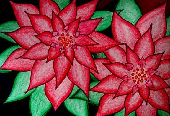 Great instruction for teaching a drawing lesson on poinsettias. Incorporated the history and science of poinsettias.