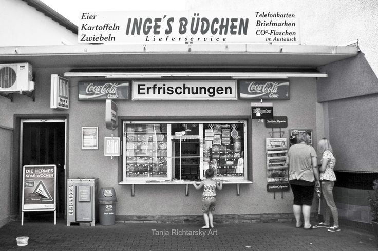 Das Büdchen im Ruhrgebiet  Black & White Photographt auf DaWanda.com