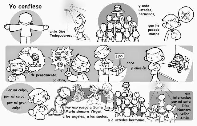 La Catequesis: Aprendemos las oraciones básicas con dibujos