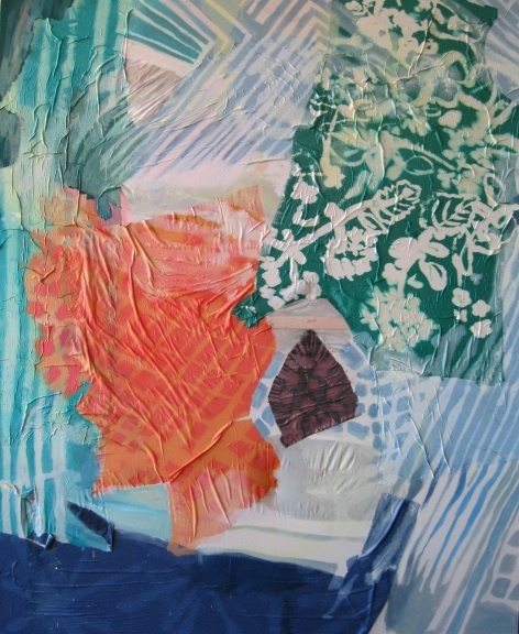 Lauren Luloff - Oil on bleached bed sheets and fabric