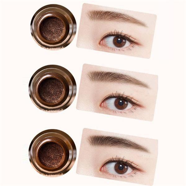3 colorea el amortiguador de la crema de la ceja del amortiguador de aire de la crema de la ceja