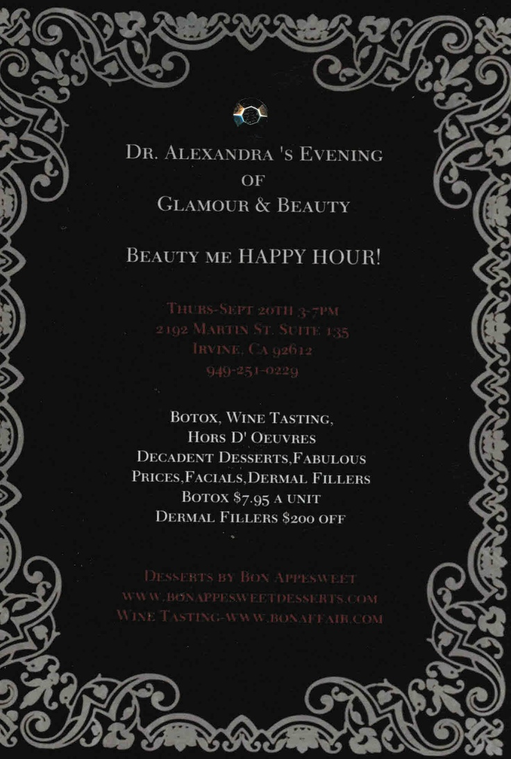 "Botox Parties ...   Beauty me ""Happy Hour"""