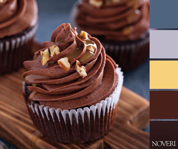 E tu che gusto preferisci? #palette #color #chocolate #cioccolato #food #paint #pittura #muffin #sweet