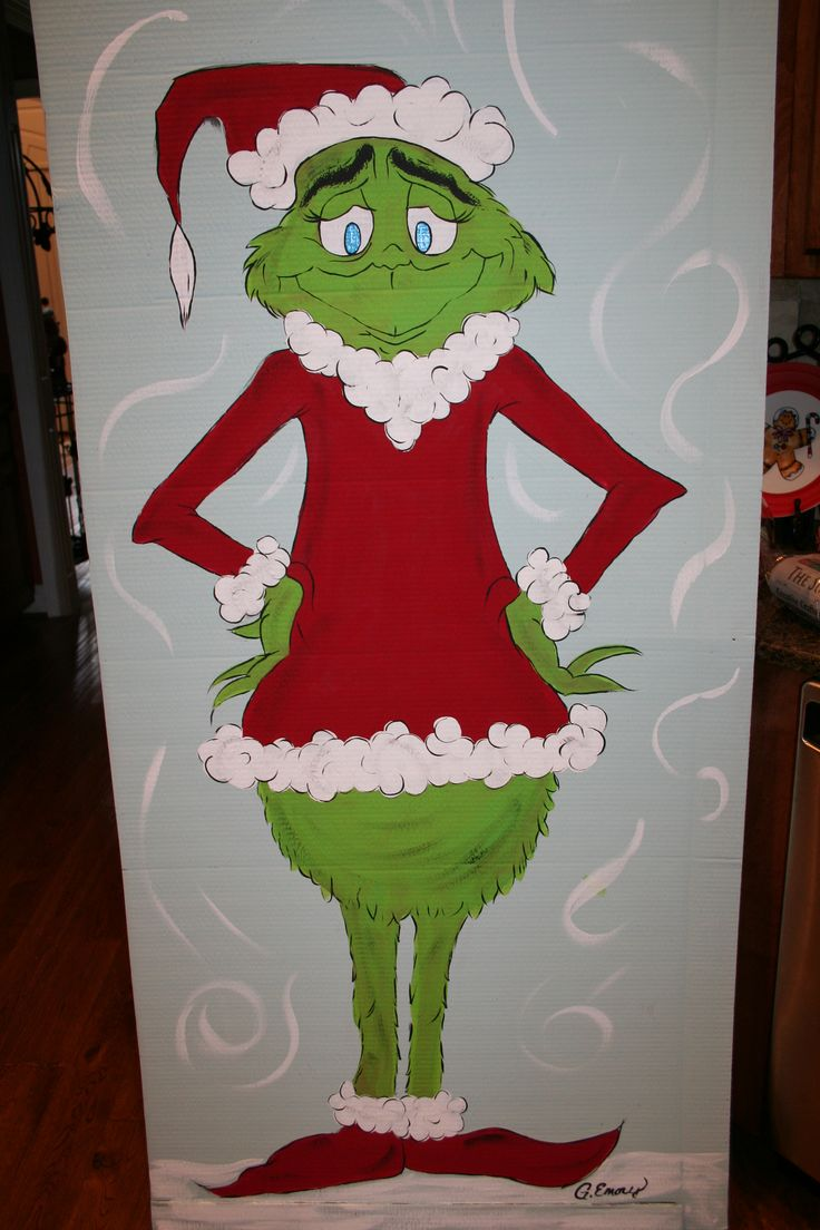 The Grinch Standee~  Decoration for school