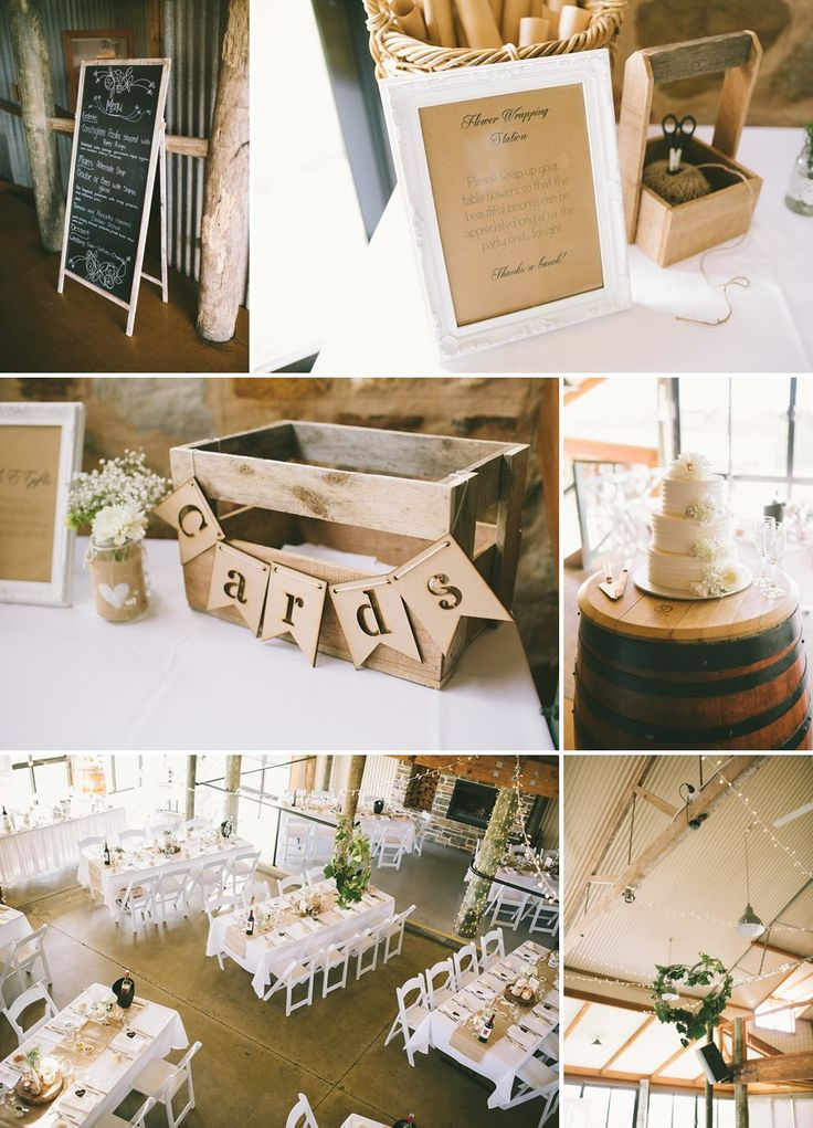 Flower wrapping station so your reception flowers don't go to waste! What a fantastic idea!  Longview Vineyard - Rustic Winery Wedding | Adelaide Hills Wedding Photographer | Lucinda May Photography
