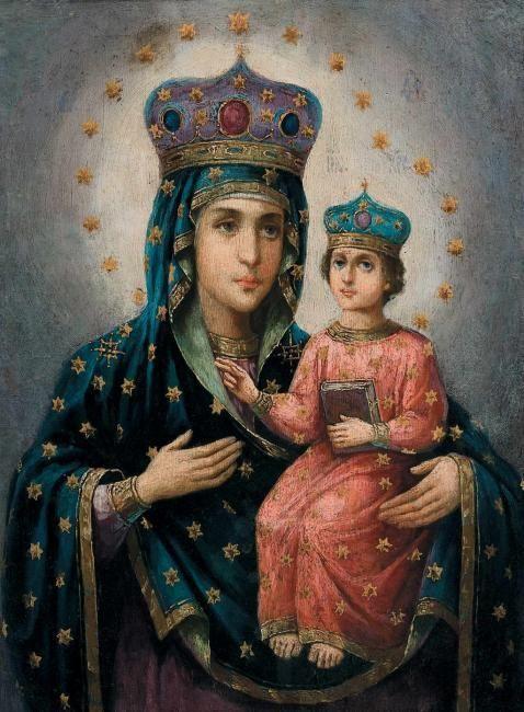 «Богородица Озерянская», Россия, ІІ половина ХІХ в. дерево, масло; 44х32