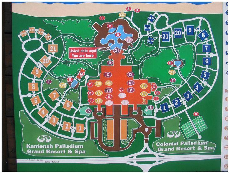 Grand Palladium Kantenah Resort And Spa Map