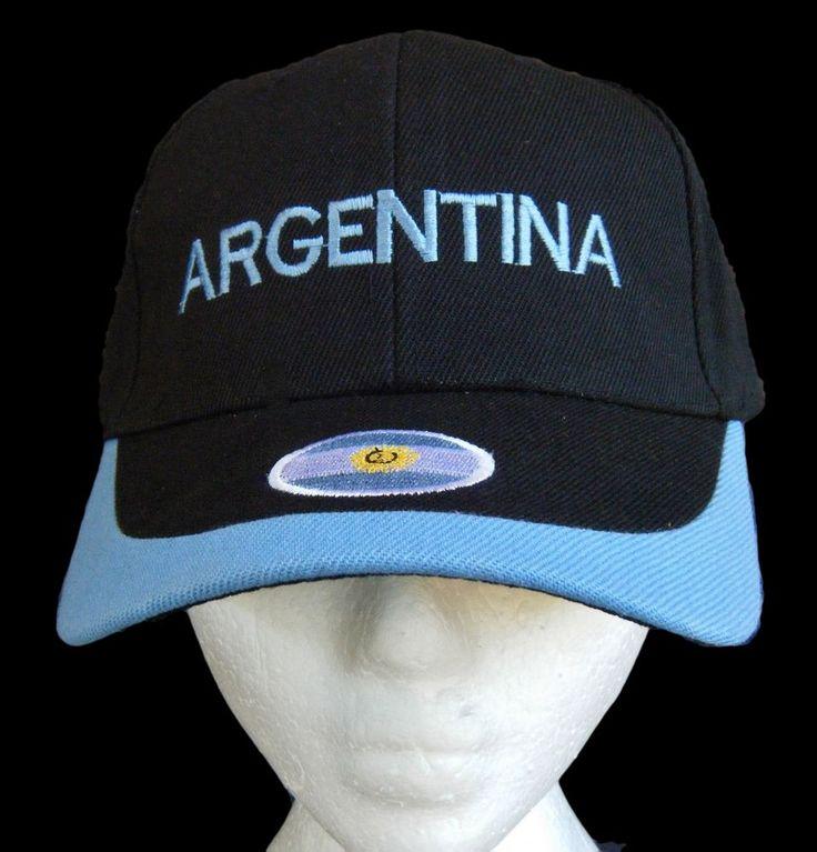 ARGENTINA COUNTRY FLAG  ARGENTINEAN WORLD CUP SOCCER COOL HAT BASEBALL CAP #BaseballCap #argentina #argentinian #argentinaflag #coolhat
