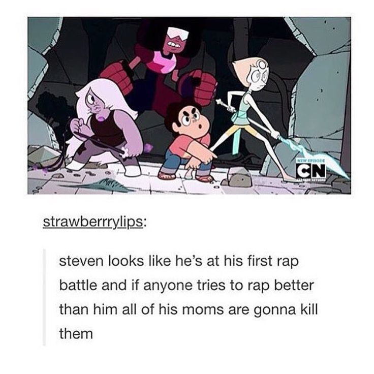 No one is allowed to rap better than Steven