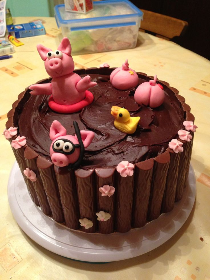 pigs in the mud cake | YUMMY | Pinterest | The mud, Cakes ...