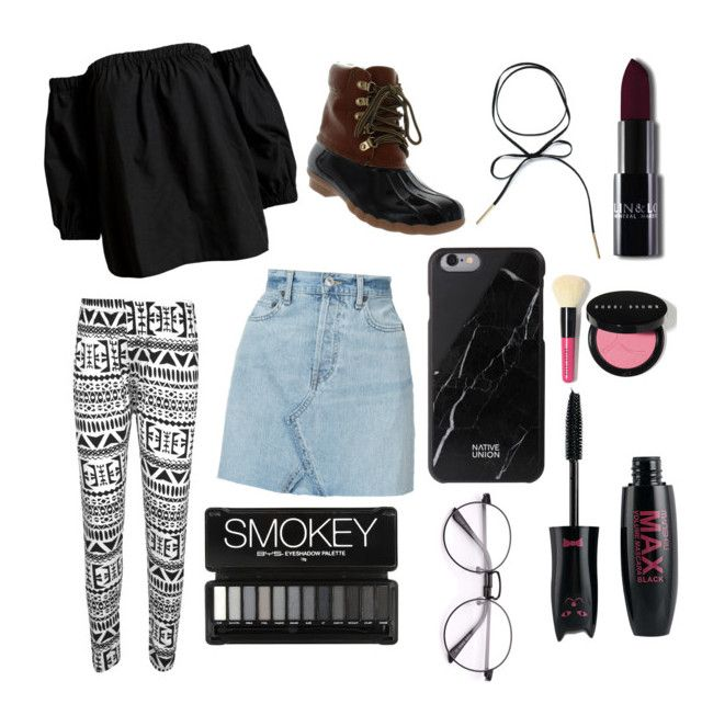 """""""t o u r n e y y y y"""" by harperbrayy on Polyvore featuring WearAll, RE/DONE, Sans Souci, Seven7 Jeans and Bobbi Brown Cosmetics"""