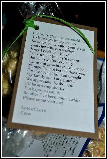 """Cute """"thank you"""" from baby-to-be for a baby shower"""