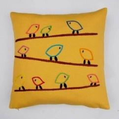 Teldeki Kuşlar Sarı Yastık - #tasarim #tarz #sarı #rengi #moda #hediye #ozel #nishmoda #yellow #colored #design #designer #fashion #trend #gift